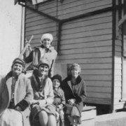 Hostel staff at  Forrest Railway Station