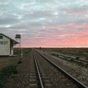 Sunset on the train line